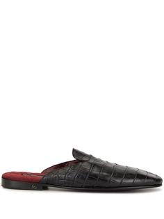 Dolce & Gabbana слиперы с тиснением под кожу крокодила