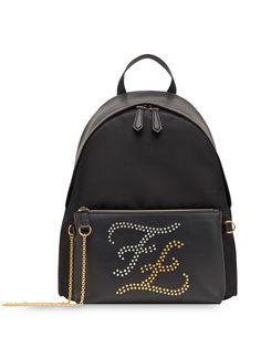 Fendi рюкзак с узором Karligraphy