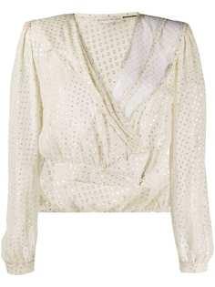 Etro укороченная блузка с запахом