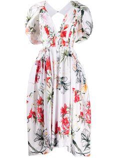 Alexander McQueen поплиновое платье миди Endangered Flower