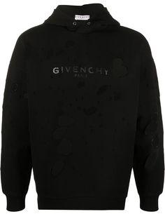 Givenchy худи с эффектом потертости