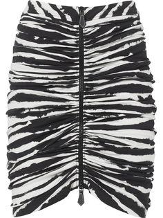 Burberry юбка с принтом и сборками