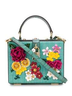 Dolce & Gabbana сумка-тоут с цветочной вышивкой
