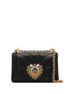 Dolce & Gabbana стеганая мини-сумка Devotion