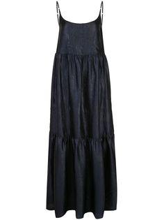 Sies Marjan платье макси Brianna с тиснением под кожу крокодила