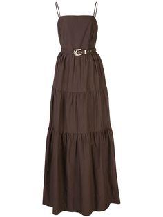 Nicholas ярусное платье макси Kerala