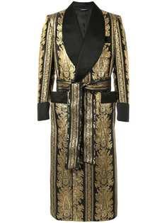 Dolce & Gabbana жаккардовый халат с поясом
