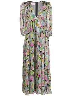 Giamba платье ампирного силуэта с цветочным принтом