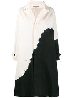 Suzusan однобортное пальто с принтом тай-дай