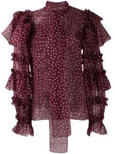 Dolce & Gabbana блузка с оборками на рукавах