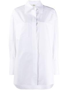 Fendi рубашка на пуговицах с декором на манжетах