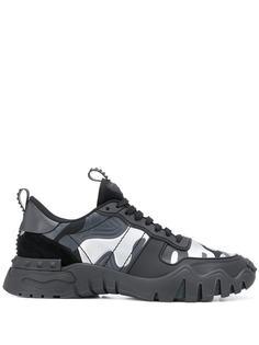 Valentino кроссовки Valentino Garavani Rockrunner с камуфляжным принтом