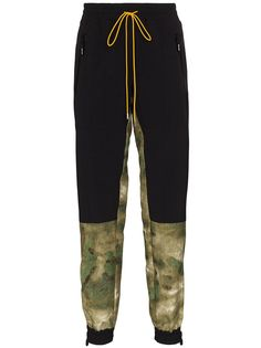 Rhude спортивные брюки с камуфляжным принтом