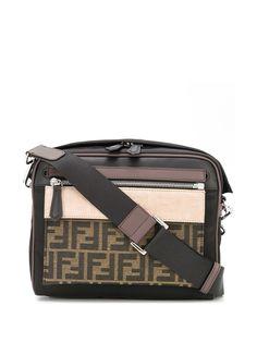 Fendi сумка-мессенджер в стиле колор-блок с логотипом FF