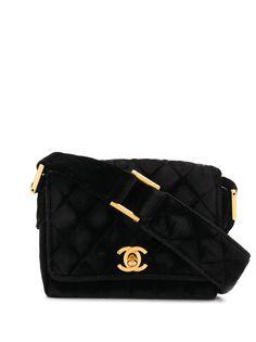 Chanel Pre-Owned стеганая сумка 1989—1991-х годов с логотипом CC