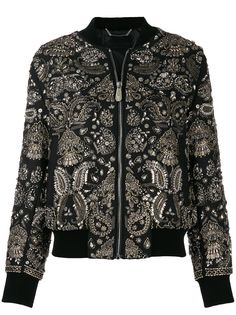 Philipp Plein куртка-бомбер с принтом пейсли