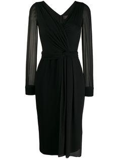 Max Mara платье с полупрозрачными рукавами