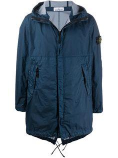 Stone Island непромокаемая куртка на молнии с нашивкой-логотипом