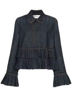 Valentino джинсовая куртка с оборками