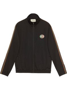 Gucci сетчатая куртка оверсайз с логотипом