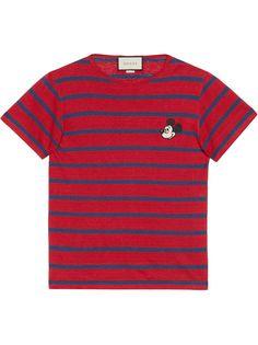 Gucci футболка с вышивкой Mickey Mouse из коллаборации с Disney