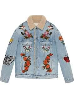 Gucci джинсовая куртка с вышивкой