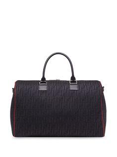 Fendi дорожная сумка с тисненым логотипом