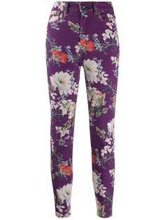 Etro джинсы прямого кроя с цветочным принтом
