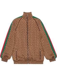 Gucci куртка-бомбер с узором G Rhombus