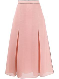 Fendi сетчатая расклешенная юбка