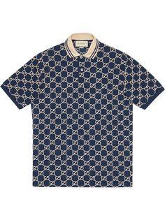 Gucci рубашка поло с узором GG Supreme