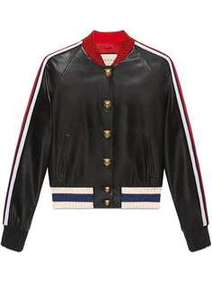 Gucci куртка-бомбер с вышивкой