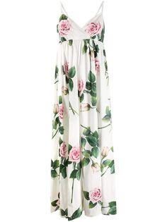 Dolce & Gabbana платье макси с цветочным принтом