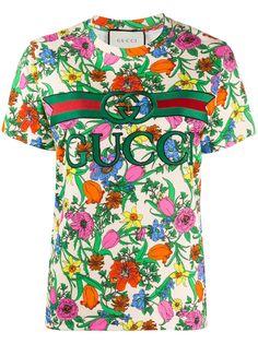 Gucci футболка Pop Flora с короткими рукавами