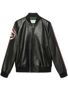 Gucci куртка-бомбер с нашивкой