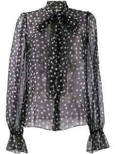 Dolce & Gabbana блузка в горох с бантом