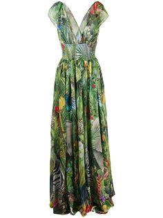 Dolce & Gabbana платье макси с принтом