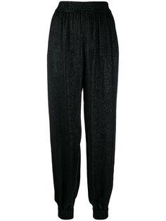 Saint Laurent блестящие брюки-шаровары