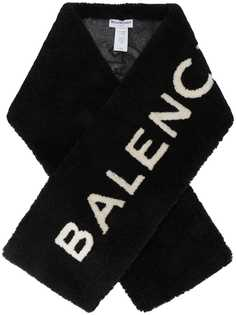 Balenciaga шарф с логотипом из овчины