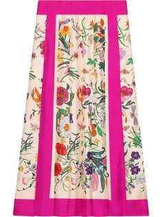 Gucci юбка с принтом Flora