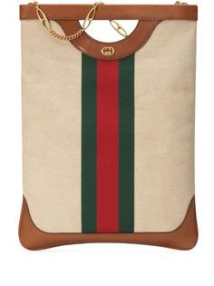 Gucci большая парусиновая сумка-тоут