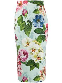 Dolce & Gabbana юбка-карандаш с цветочным принтом