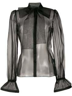 Dolce & Gabbana прозрачная блузка с бантом