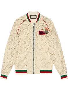 Gucci кружевная куртка-бомбер