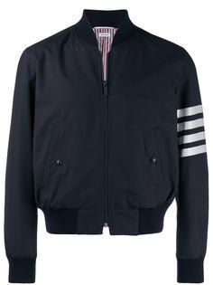 Thom Browne куртка-бомбер с полосками 4-Bar