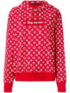 Louis Vuitton худи с логотипом из коллаборации с Supreme