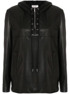 Saint Laurent байкерская рубашка с длинными рукавами
