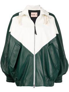 Plan C куртка-бомбер в стиле колор-блок