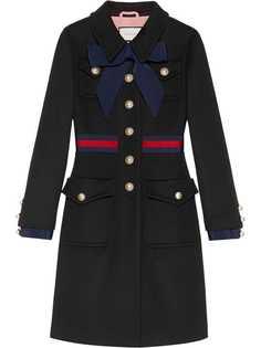 Gucci пальто с полоской Web