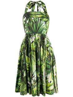 Dolce & Gabbana платье с вырезом халтер и принтом